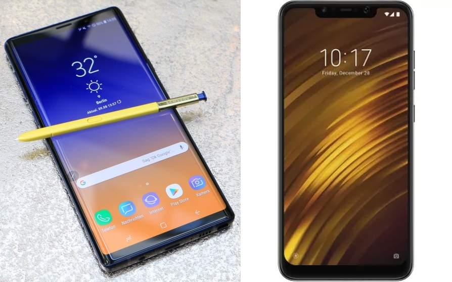 Samsung Galaxy Note 9 versus Xiaomi Poco F1
