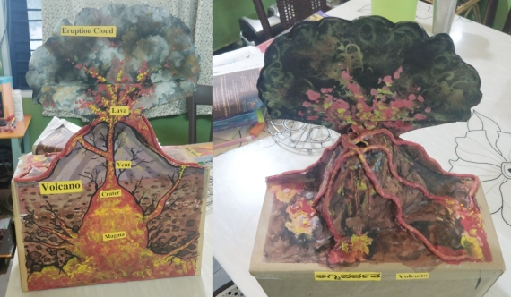 Volcano Diorama - Teaching Aid for Teachers and Resource Model for Students