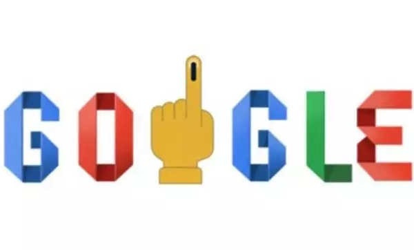 Google Logo on Indian Elections