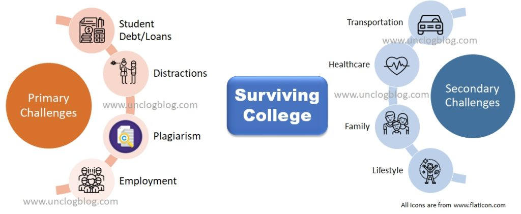 Surviving College - Challenges